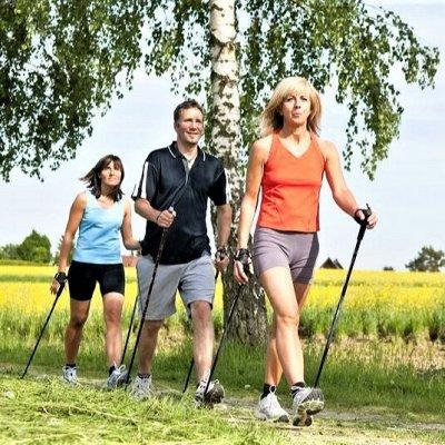 61*Товары для спорта, туризма и путешествий* — Палки для скандинавской ходьбы — Фитнес