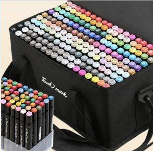 Маркеры для скетчинга  168 цветов двусторонние полный комплект