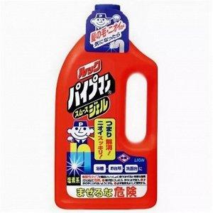 Look Pipeman Smooth Gel Очищающий и удаляющий запах гель для водопроводных и канализационных труб, 1000мл