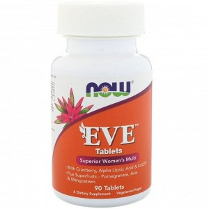 NOW Eve Полезные свойства добавки: *улучшает тонус и работоспособность; *стимулирует работу иммунной системы; *увеличивает антиоксидантную защиту организма; *снижает риск развития заболеваний серд
