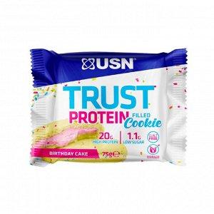 USN Trust Protein Filled Cookie Протеиновое печенье 75 г