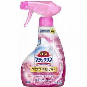 KAO  Чистящий спрей-пенка с противогрибковым эффектом для ванной комнаты и душевых кабин с ароматом роз 380 мл,