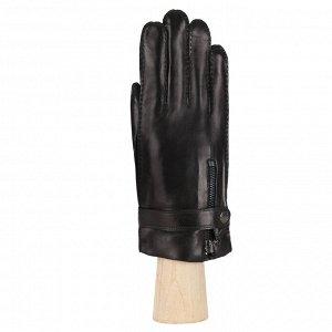 Перчатки из кожи ягненка, на шерсти, черн. FABRETTI FM2-1 black