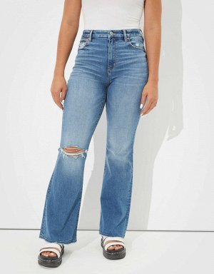 AE Curvy Super High-Waisted Flare Jean