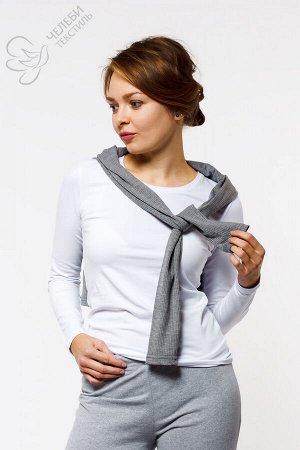 Джемпер Джемпер женский из хлопка с круглой горловиной и длинным рукавом. Выполнен из гладкокрашенной ткани. Состав — 95% хлопок, 5% лайкра Плотность — 160 г/м2 Оттенок цвета изделий может отличаться