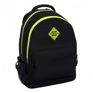 Рюкзак ученический ErichKrause EasyLine с двумя отделениями 20L Black&Yellow3