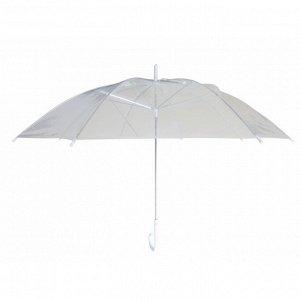 Зонт полиэтиленовый прозрачный 51,5см (на выбор цвета: голубой, розовый, черный,темно-синий, белый по цвету уточнять)