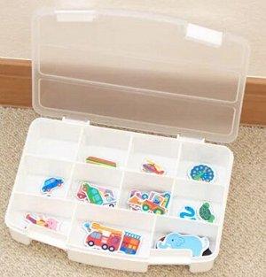 Коробка с прегородками для хранения мелочей 19,6*14см