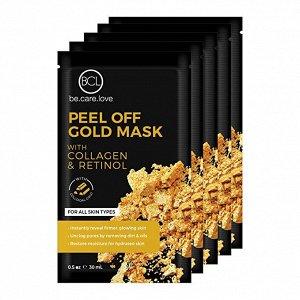 """Золотая маска-пленка """"коллаген""""и """"ретинол"""" для всех типов кожи  BOON7 Peel Off Gold Pack Collagen&Retinol"""