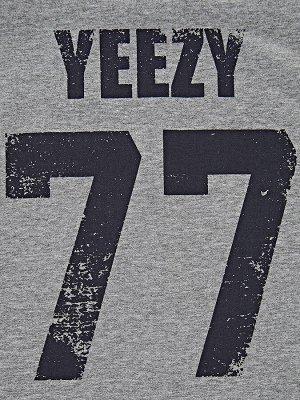 "Футболка ""77"" (122-146см) UD 1929(2)антра/серый"