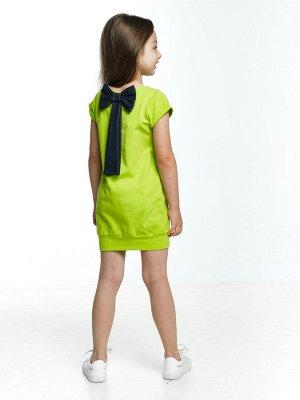 Платье с бантом (98-122см) UD 0633(1)салат