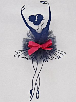 *Футболка для девочки (98-122см) UD 3225(2)синий
