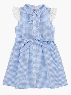 Платье (98-122см) UD 4563(3)голуб клетка