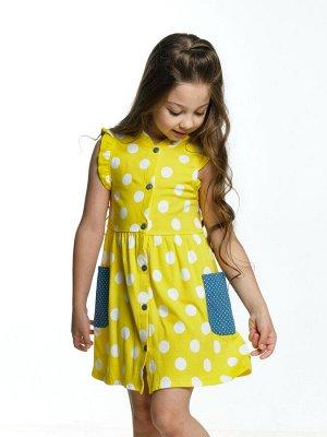 Платье  (92-116см) UD 2956(1)желт-горох