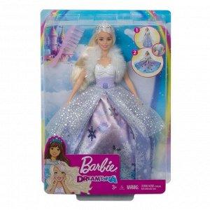 Кукла Mattel Barbie Снежная принцесса с раскрывающимся платьем2