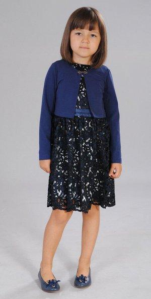 Платье+болеро синий