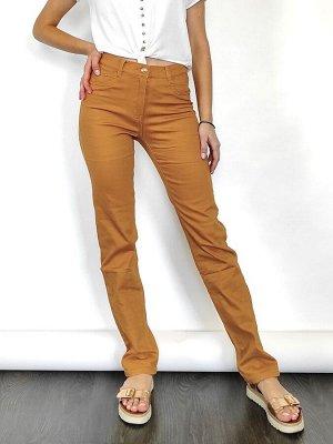 Слегка приуженные джинсы горчичного цвета Feimailis