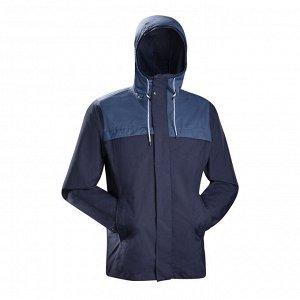Куртка для туристического треккинга 3 в 1 мужская TRAVEL 100 FORCLAZ