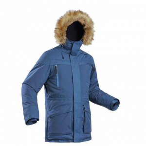 Куртка теплая водонепроницаемая для зимних походов мужская SH500 U-WARM. QUECHUA