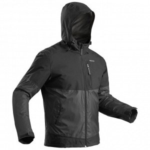 Куртка SH100 XSH100–Warm непромокаемая мужская черная QUECHUA