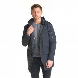 Демисезонная мужская удлиненная куртка Hermzi с капюшоном, цвет Темно-серый