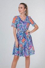 Платье Лина №4.Цвет:яркие узоры