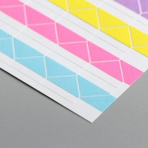 Набор цветных уголков с кармашком для фотографий, 102 шт.