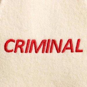 """Шапка для бани с вышивкой """"criminal"""""""