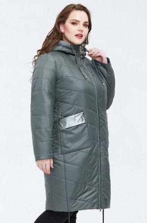 Женское демисезонное пальто с капюшоном ХИТ ПРОДАЖ, цвет оливковый