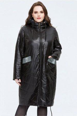 Женское демисезонное пальто с капюшоном ХИТ ПРОДАЖ, цвет черный
