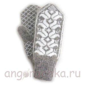 Женские пуховые варежки-джурабы - 304.20