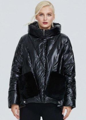 Женская демисезонная куртка с капюшоном ХИТ ПРОДАЖ, цвет черный