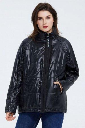 Женская легкая демисезонная куртка, цвет черный