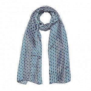 Шарф текстильный женский, цвет синий/чёрный, размер 27х150