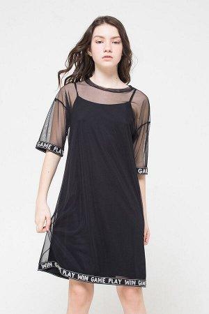 Платье(Осень-Зима)+girls (черный к33)