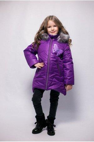 """Зимнее пальто """"лолла"""" цвет баклажан"""