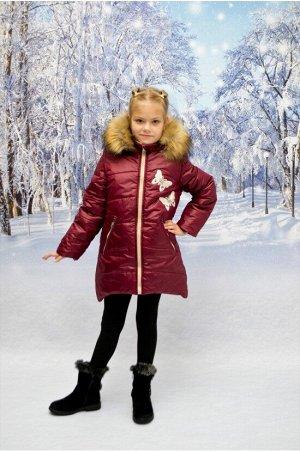 """Зимнее пальто """"лолла"""" цвет бордо"""