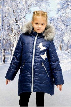 """Зимнее пальто """"лолла"""" цвет синий жемчуг"""