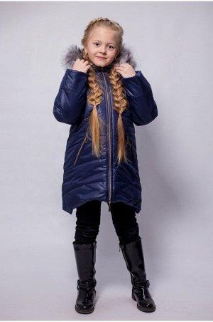 "Зимнее пальто ""лолла"" цвет синий серебро"