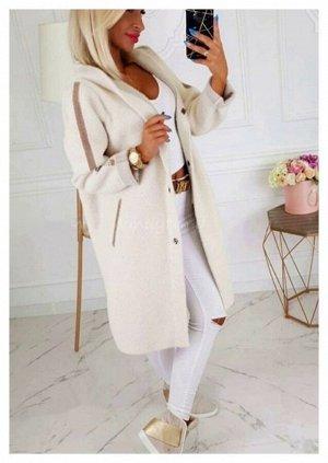Пальто Ткань альпака Длина 100см