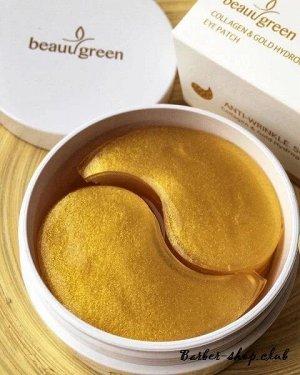 BeauuGreen Патчи для глаз с коллаг. и золотом Collagen & Gold Hydrogel Eye Patch