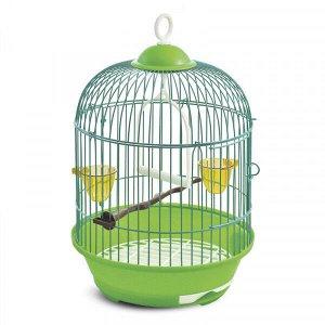 Клетка для птиц №23А цветная круглая 37,5*23см