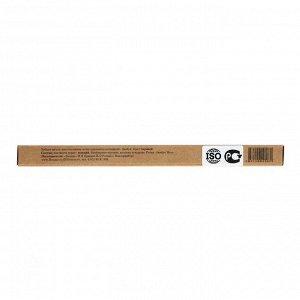 Бамбуковая зубная щётка Biocase, для взрослых, чёрная