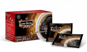 Чистый чёрный растворимый King Coffe 1 шт
