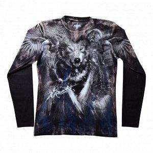 Мужская футболка с длинным рукавом Волк KPT150
