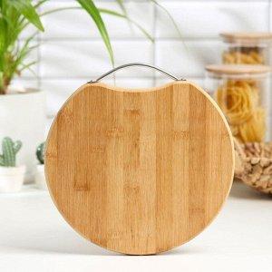 Доска разделочная Доляна Round Table, d=25 см