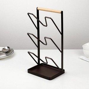 Подставка для крышек Доляна «Лофт», 16?13?33,5 см, цвет коричневый