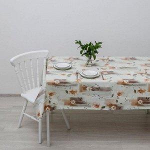 Клеёнка столовая на нетканой основе, ширина 137 см, толщина 0,08 мм, рулон 20 метров