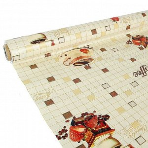Клеенка столовая на нетканой основе, ширина 137 см, толщина 0,08 мм, рулон 20 м
