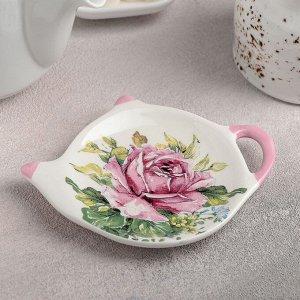 Подставка под чайный пакетик Доляна «Роза», 12Х8,4 см